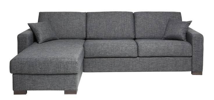 canap 3 places bilbo tissu gris anthracite convertible. Black Bedroom Furniture Sets. Home Design Ideas