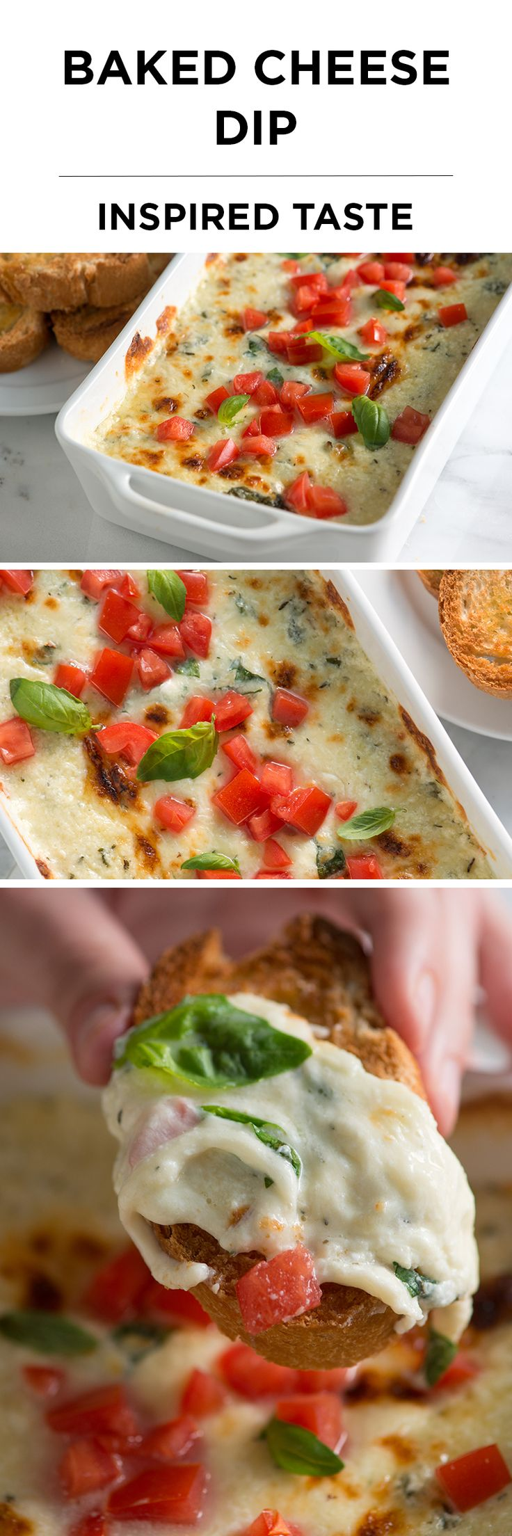 This basil-scented baked cheese dip is one of our favorite things to serve friends. From inspiredtaste.net | @inspiredtaste