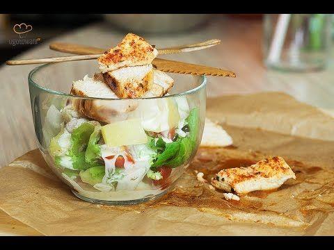 Dietetyczna sałatka z kurczakiem | Ugotowani.tv HD - YouTube