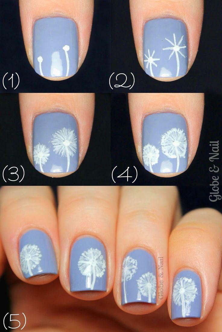 25 parasta ideaa pinterestiss dandelion nail art kauniit dandelion nail art tutorial prinsesfo Gallery