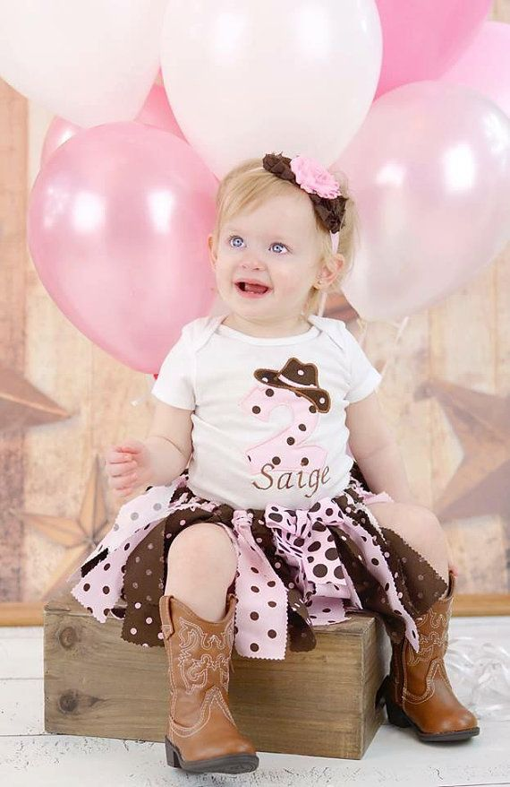 Cowgirl Tutu Outfit Farm Party Tutu Outfit by GigglesandWiggles1