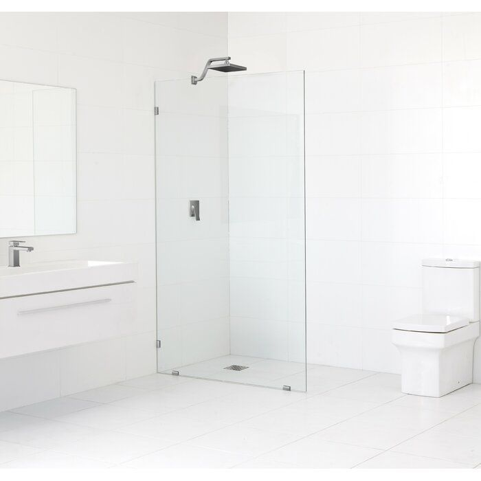 45 X 78 Frameless Fixed Glass Panel Shower Doors Glass Shower Doors Frameless Glass Shower Doors