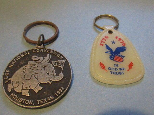 GOP National Convention Houston Texas 1992 keychain