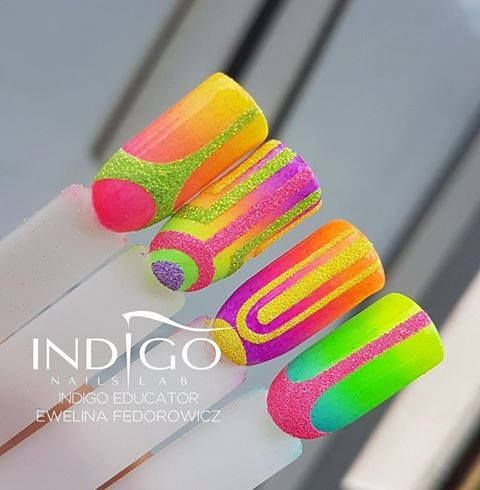 Neon Mermaid Effect by Ewelina Fedorowicz, Indigo Educator #nails #nail #nailsart #indigonails #indigo #hotnails #summernails #springnails #omgnails #amazingnails #gelpolish #inspiration #gelpolish #cool #effectnails #neon #mermaid #effect