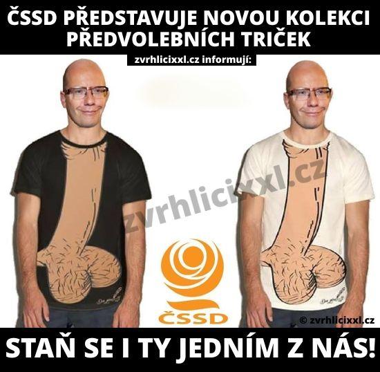 ČSSD a nová kolekce předvolebních triček – Zvrhlíci XXL – Bez cenzury