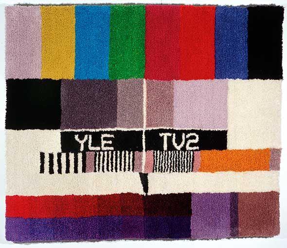 Panu Puolakka / Suomen Käsityön Ystävät, ryijy, TV2, 1999. Kuva: Jani Mahkonen