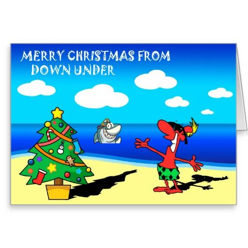 Merry Christmas from Australia Greeting Card