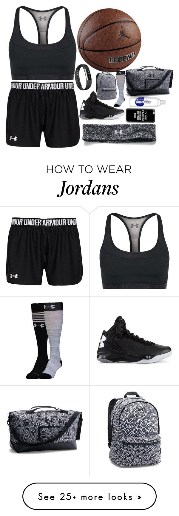 Training Because I Can by jadeandsonic on Polyvore featuring NIKE, Under Armour, Fitbit, Casetify and basketball