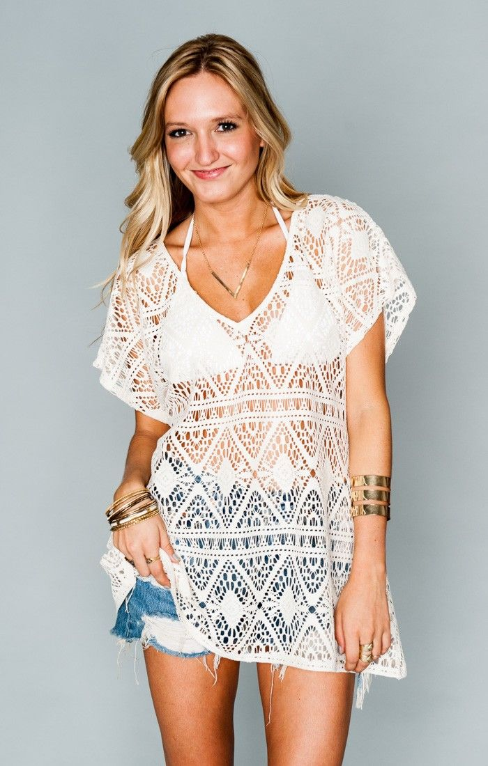 Mumu Lace ~ Cream Triangle Crochet  ~ Show Me Your Mumu