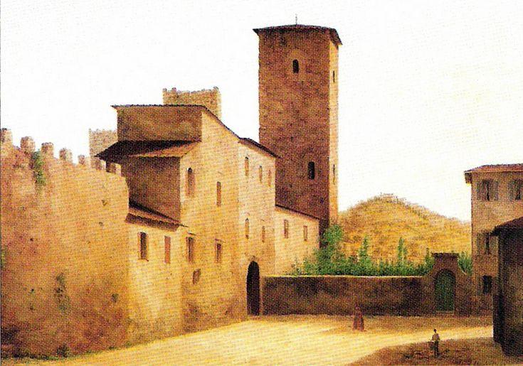 """""""Piazza e Torre della Zecca vecchia"""" Fabio Borbottoni (1820–1902)  Cassa di Risparmio di Firenze Collection"""