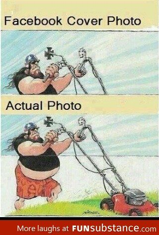 Facebook Cover Photo and Actual photo