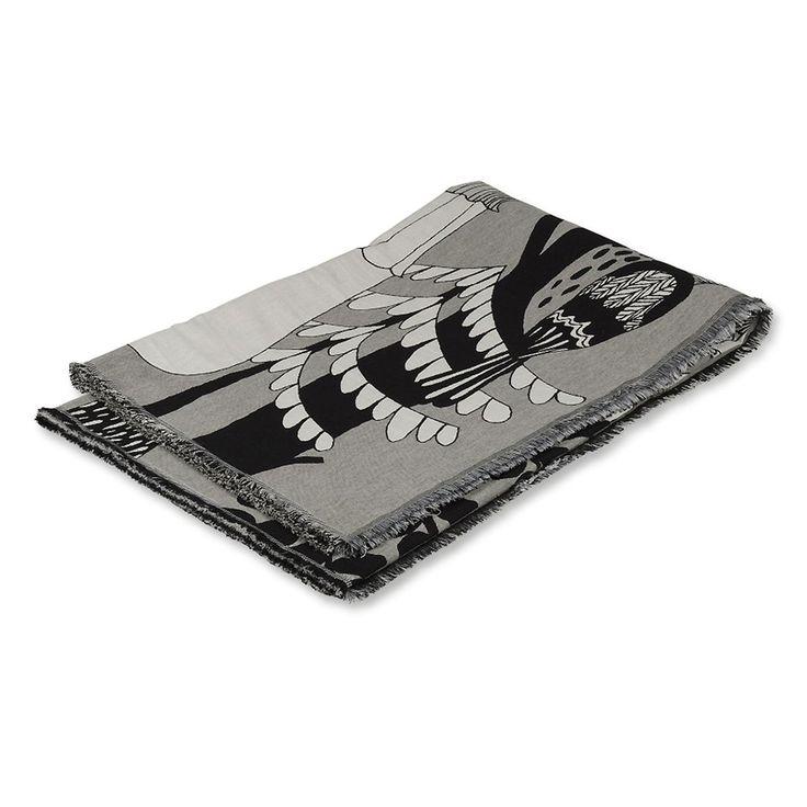 Marimekko - Veljekset Decke 130 x 180 cm, schwarz / weiß (Herbst 2017) Schwarz/Weiß T:130 B:180