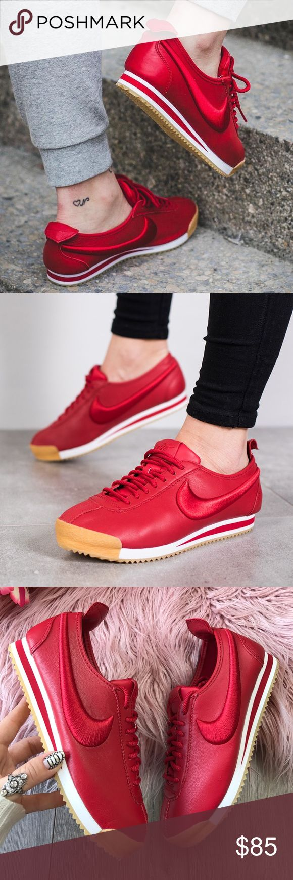 NWT Nike Cortez SI red 👺 Brand new with box no lid, price is firm!Nike Women's Cortez '72 SI Casual Shoe The 1972 classic Cortez is back with a twist. The Nike Cortez Casual Shoes are here with a modern take on that heritage look you know and love.   The smooth ripstop upper provides lightweight comfort and is inspired by the iconic Windrunner Jacket Solarsoft foam midsole offers the most comfortable version of the Cortez yet Foam midsole allows for plenty of impact protection. Nike Shoes…