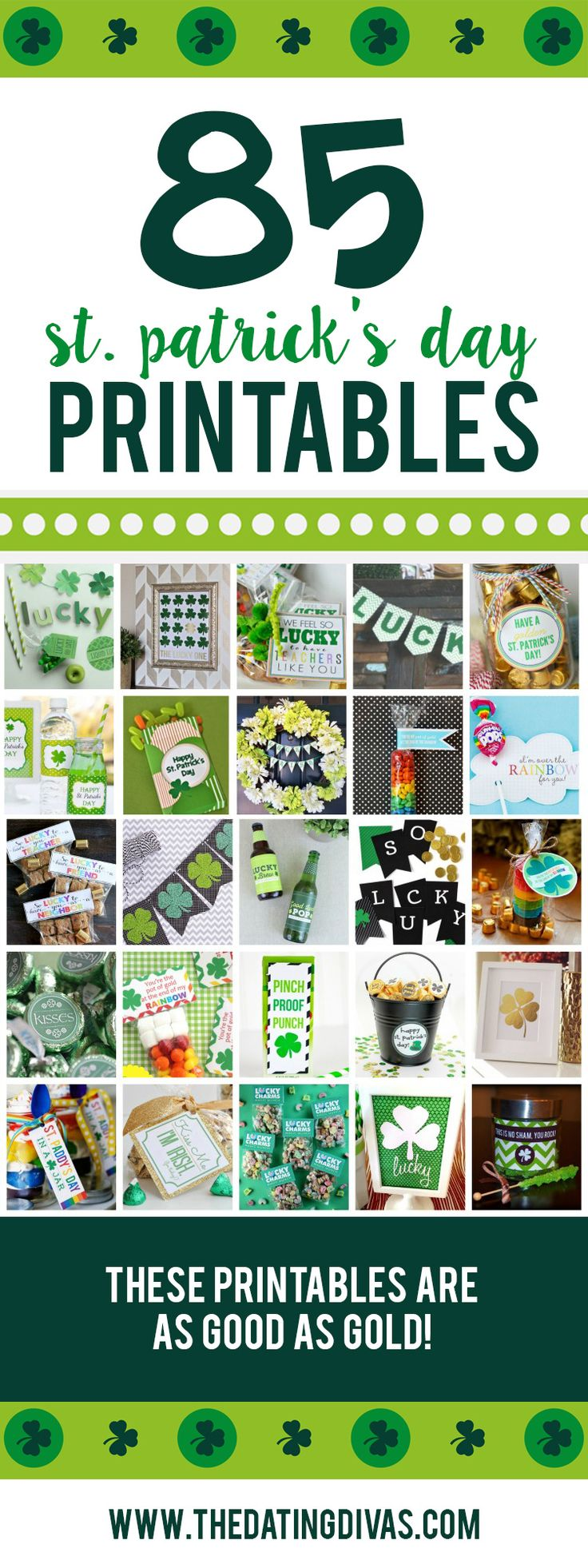 St. Patrick's Day printables! There are SO many great ideas here! LOVE them! www.TheDatingDivas.com