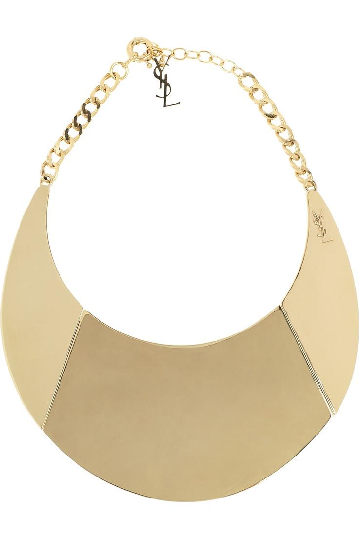YVES SAINT LAURENT  Purefly gold-tone necklace
