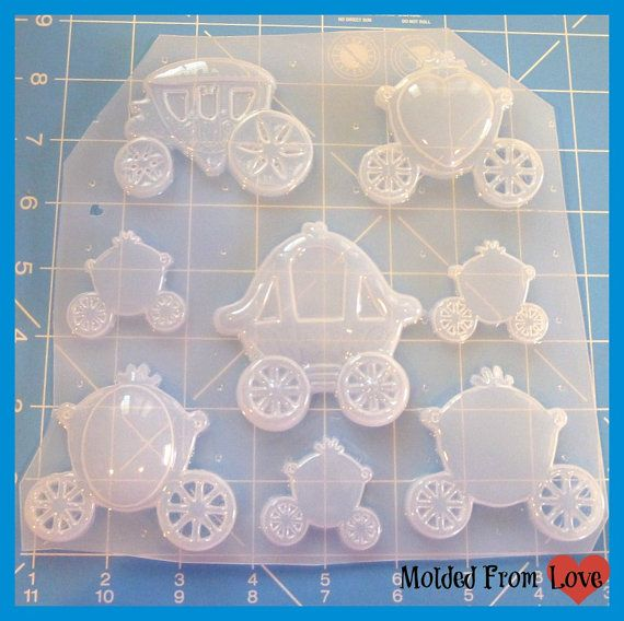 SALE Deluxe Princess carriage Mold Handmade Plastic Mold