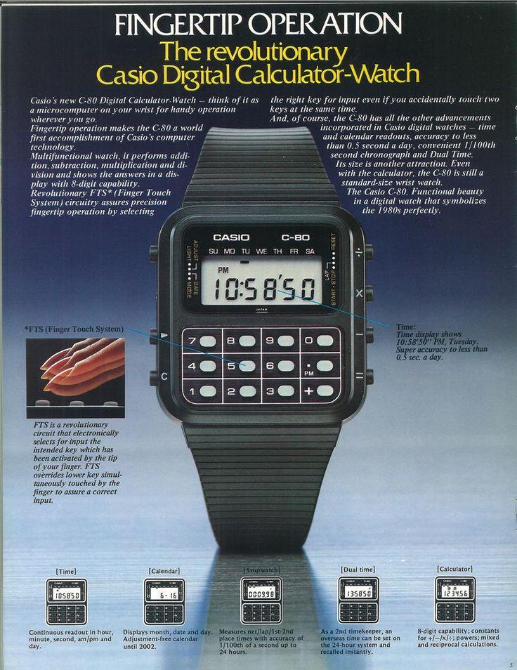 Casio's iconic C-80 calculator watch debuts.   - PopularMechanics.com