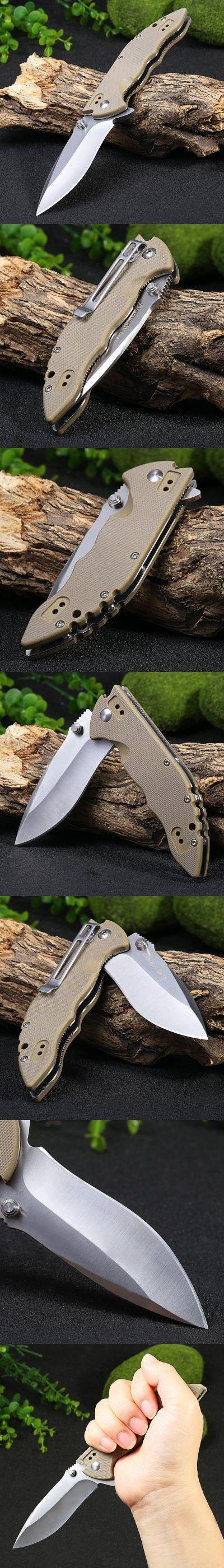 Pocket Knives and Folding Knives   Sanrenmu 9054 SUC-GV 58HRC Folding Knife