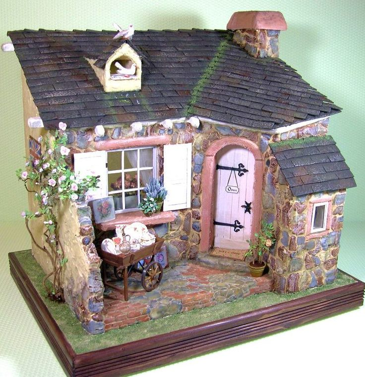 235 best tejas decoradas images on pinterest roof tiles facades and little cottages - The dollhouse from fairy tales to reality ...