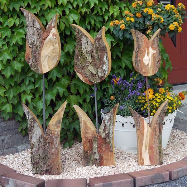 Tulpe-rustikal, Größe 1, Höhe 56 cm, Holzdeko | HOLZLIEBE-ISERLOHN | WOHNACCESSOIRES AUS HOLZ | MADE IN GERMANY