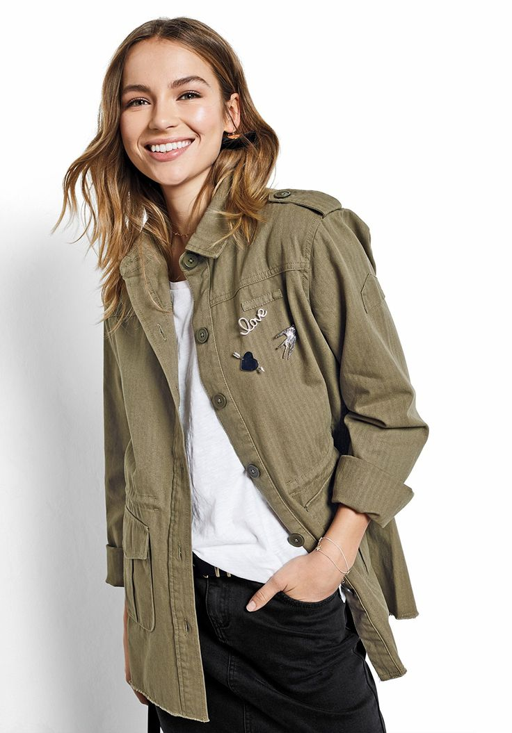 Longline Embroidered Military Jacket