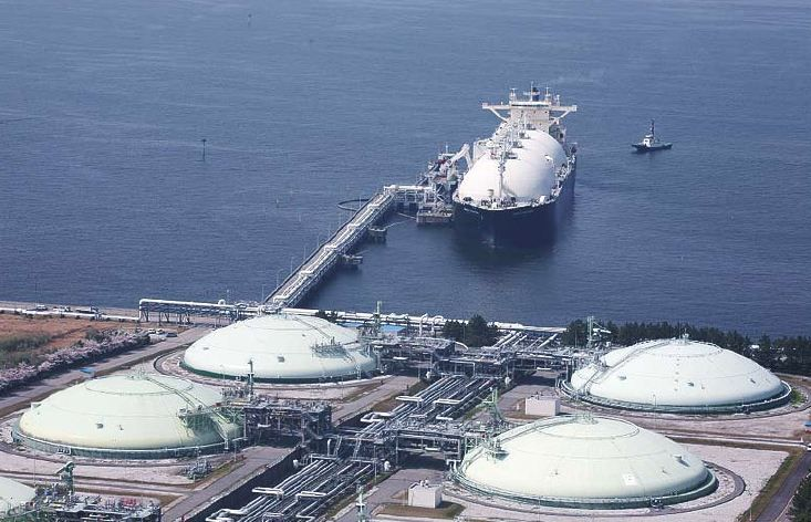 LNG terminals in Chiba Japan
