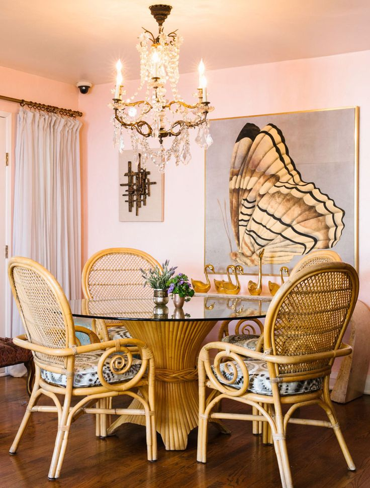 A Coral California Bungalow. California BungalowSouthern CaliforniaRetro Dining  RoomsBungalowsSpanish StyleCane ...