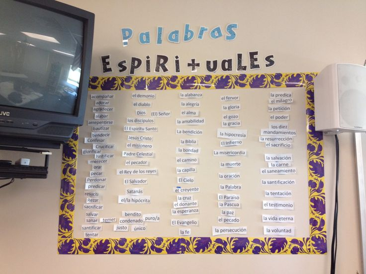 Biblical Integration for Spanish class - I taught 5 words a week as a supplement to our regular curriculum. By the end of the semester they could pray in Spanish and share the basic Gospel.