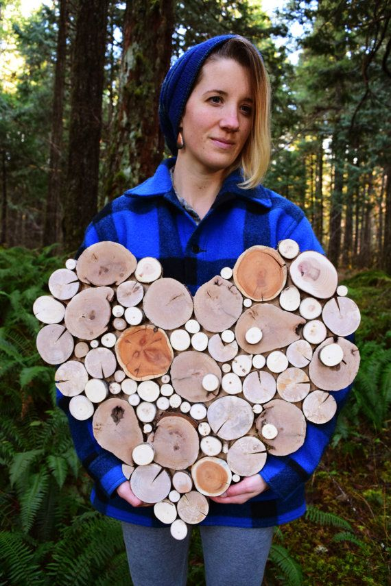 Recycled wood Tree Slice Sculpture Made to by WildSliceDesigns