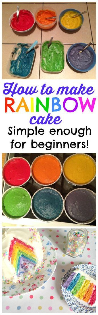 How to make a (really simple) Rainbow Cake that tastes DELICIOUS! Thousands of people have made this recipe successfully - even kids and first time bakers! Rainbow Cake is the perfect cake for a childrens birthday party or pride event!