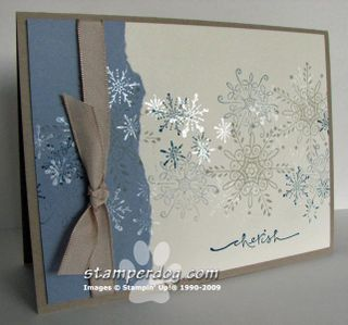serene snowflakes... - Stampin' Up! Demonstrator Ann M. Clemmer & Stamper Dog Card Ideas