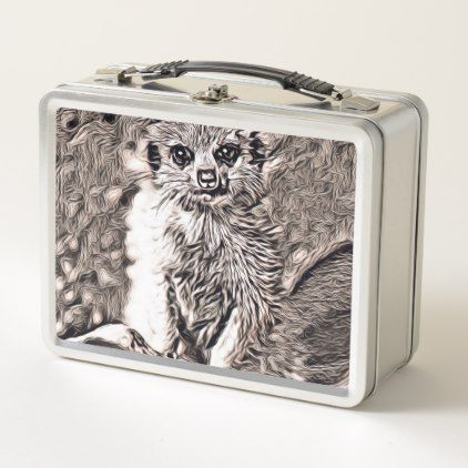 Rustic Style - Meerkat Baby Metal Lunch Box - baby gifts giftidea diy unique cute