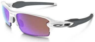 Oakley Flak Jacket 2.0 Sunglasses with Polished White Frame and Prizm Golf Lens