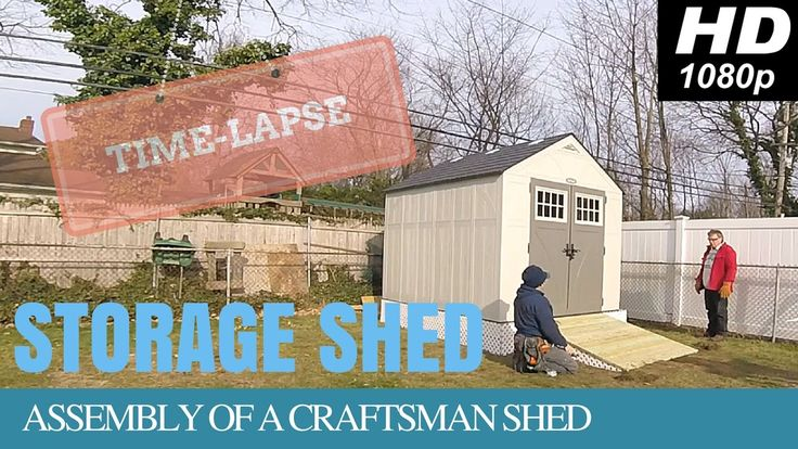 Craftsman Outdoor Storage Shed With Wooden Platform & Ramp (Time-lapse)