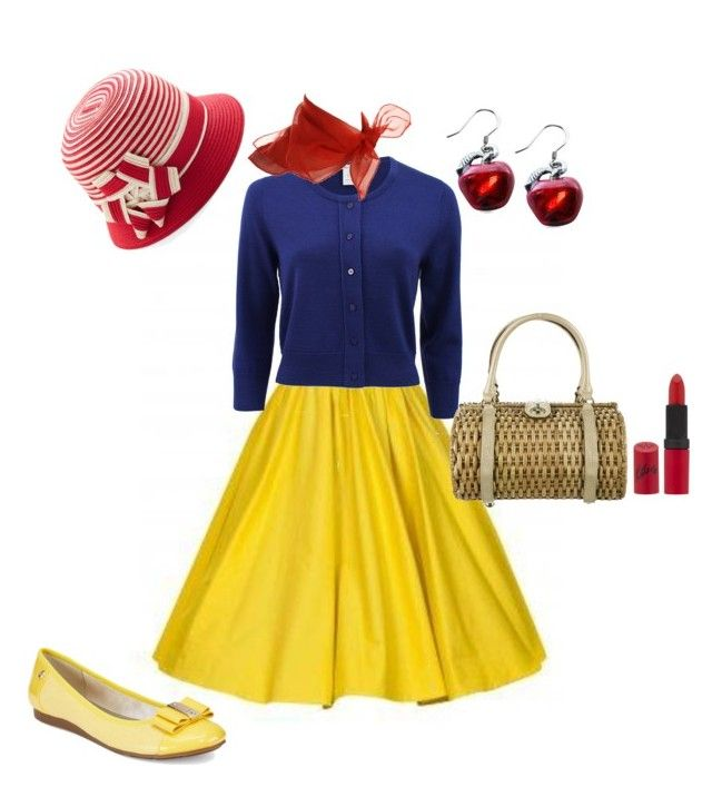 """Dapper Snow White"" by misstiffiniemae on Polyvore featuring Oscar de la Renta, Anne Klein, Whimsical Watches, Kate Spade, Rimmel, women's clothing, women, female, woman and misses"