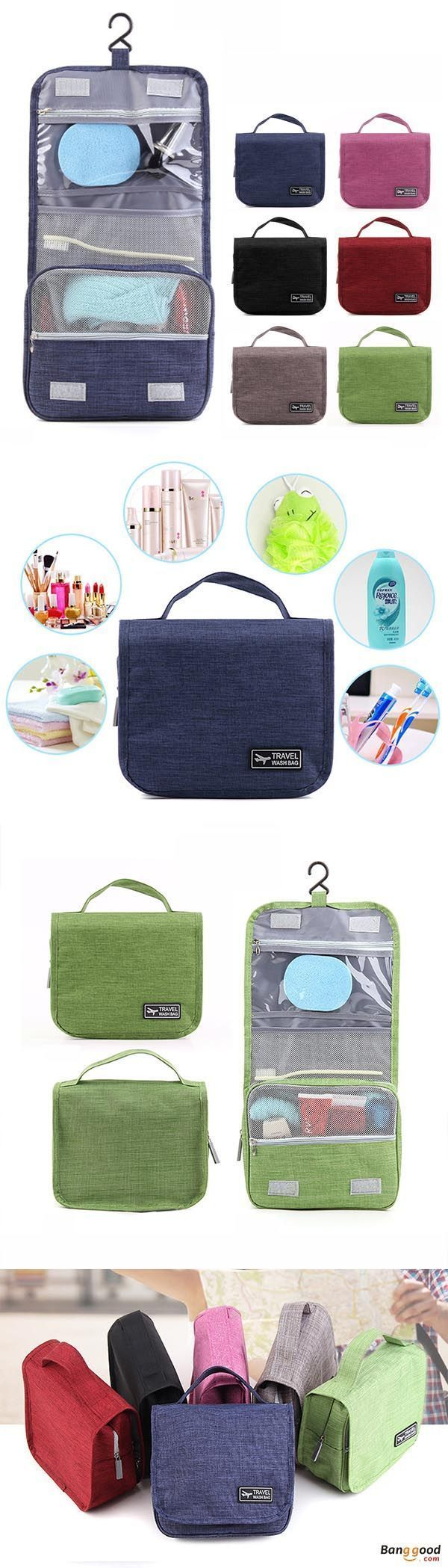 US$10.99 + Free shipping. Honana HN-TB056 Portable Cosmetic Storage Bag Travel Toilet Hanging Bag Makeup Organizer Case Pouch. Oxford fabric material, 6 Colors to Match Your Style: Black, Grey, Navy, Grey, Green, Wine Red. Click for more! #travelaccessories #makeuporganizercase #hangingmakeuporganizer