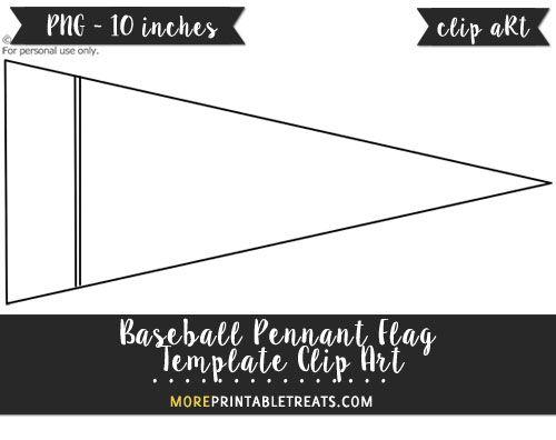 Free Baseball Pennant Flag Template - Clipart