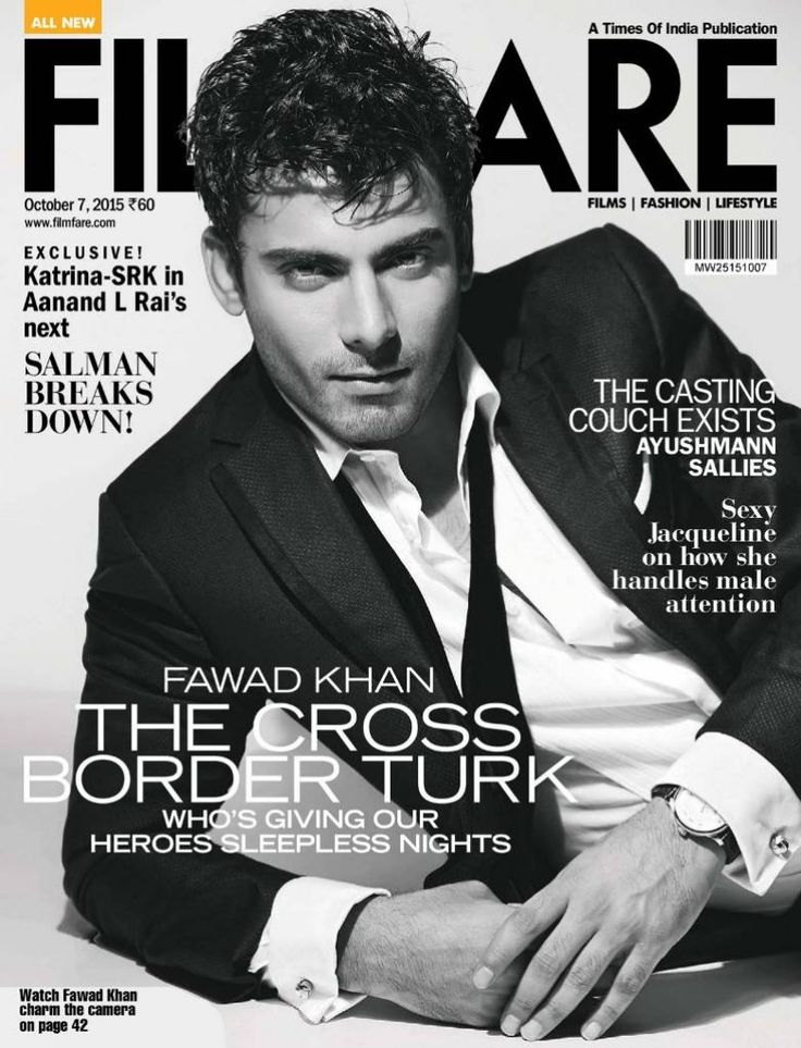 Fawad Khan Filmfare Magazine Photoshoot (September 2015)