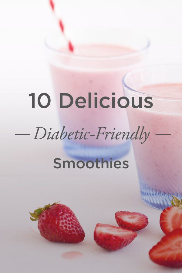 10 delicious smoothies for people with diabetes to help maintain blood sugar