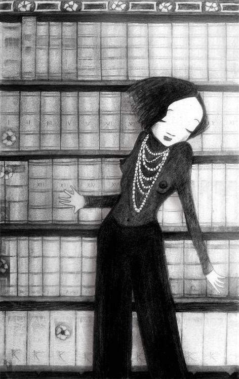 Sexy librarian / Bibliotecaria sexy (ilustración de Lola Roig)