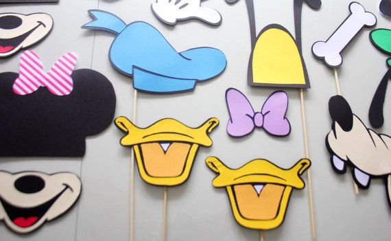 15pc Mickey and Friends Photo Booth by ThePartyGirlStudio on Etsy