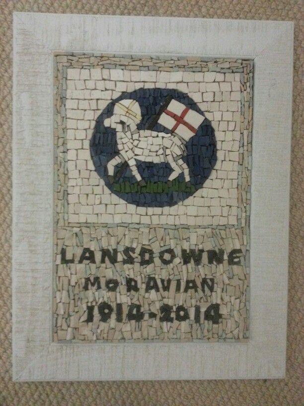 Lansdowne Moravian Church centenary mosaic