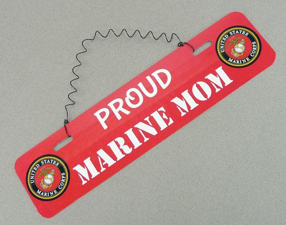 SIGN Proud Marine Mom Dad Spouse Wife Husband US Marines Gift