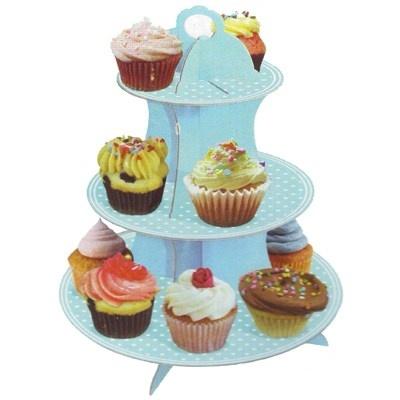 Cupcake Étagère Blauw
