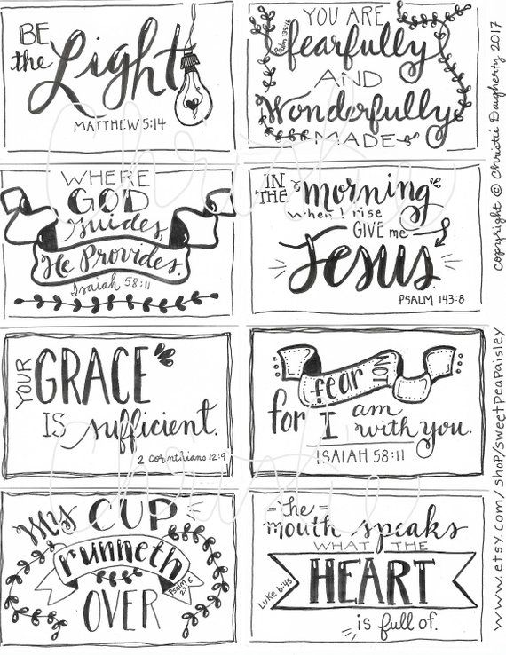 Printable Scripture Cards 3 Inspirational Cards Scripture Memory Encouragement Scripture Cards Digital Download Scripture Cards Scripture Printables Encouraging Scripture