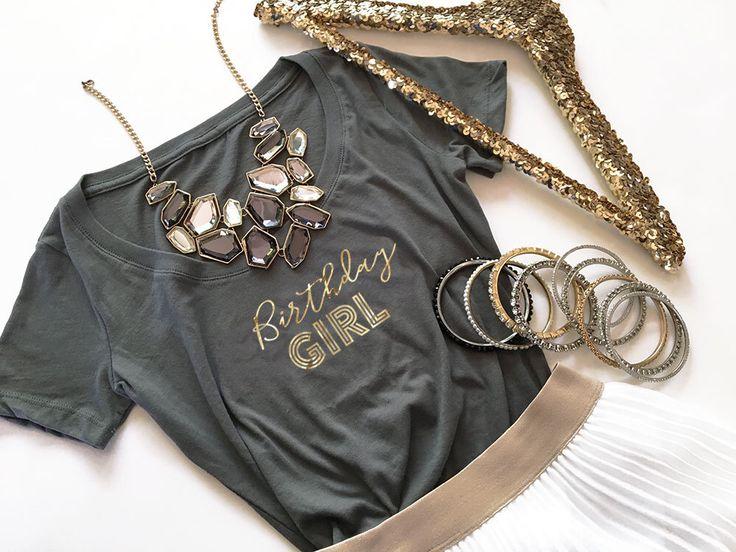 21st Birthday Shirt - Birthday Girl Shirt 21st Birthday Gift - 30th Birthday Shirt - 40th, 50th, 60th Birthday (EB3160) BIRTHDAY GIRL tshirt by ModParty on Etsy https://www.etsy.com/listing/462030824/21st-birthday-shirt-birthday-girl-shirt