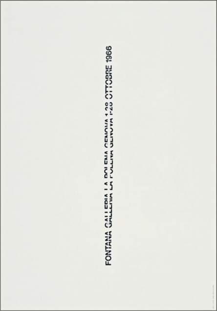 AG Fronzoni, Manifesto mostra Lucio Fontana, 1966