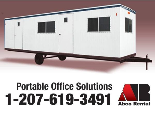 Abco Rental & Storage, Inc. Mobile Office Trailer Rentals in ME, NH, & MA  Abco rental and Storage 95 Pleasant Hill Rd • Scarborough, ME 04074 • call 207-619-3491  http://abcorental.com/office-trailer-rental.html