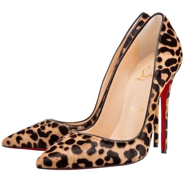 abb7823f85b45 Pre-owned Christian Louboutin Brand New so Kate Leopard Pumps ($1,000) ❤  liked