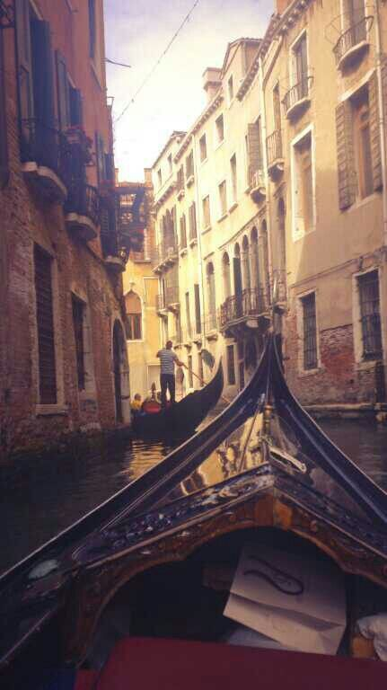 Can't wait to take a Gondala ride in Venice.